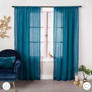 """New Opalhouse crushed sheer curtain panels 84"""""""